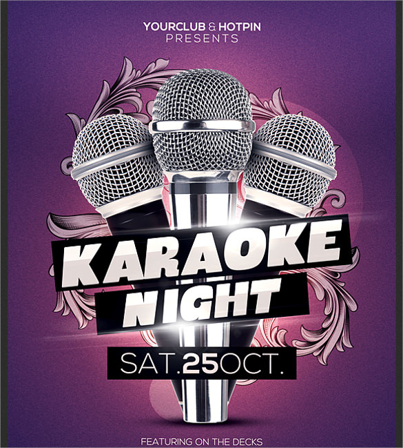23 Karaoke Night Flyer Templates Eps Psd Ai Word