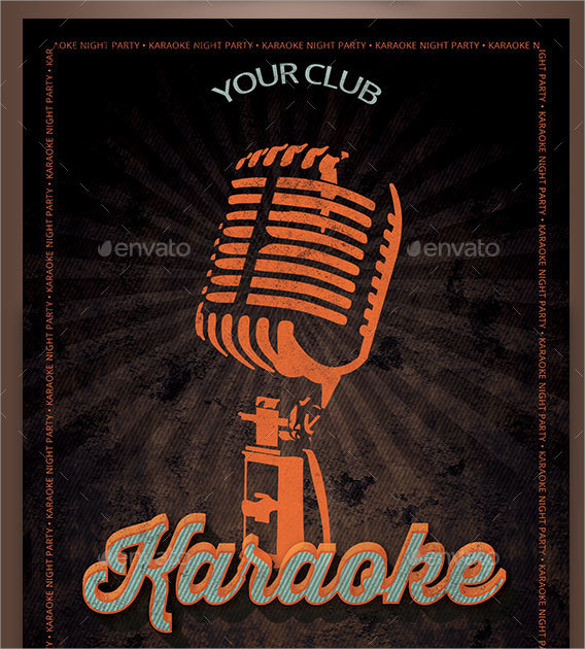 Karaoke Night Flyer Template   Download In Vector Eps Psd