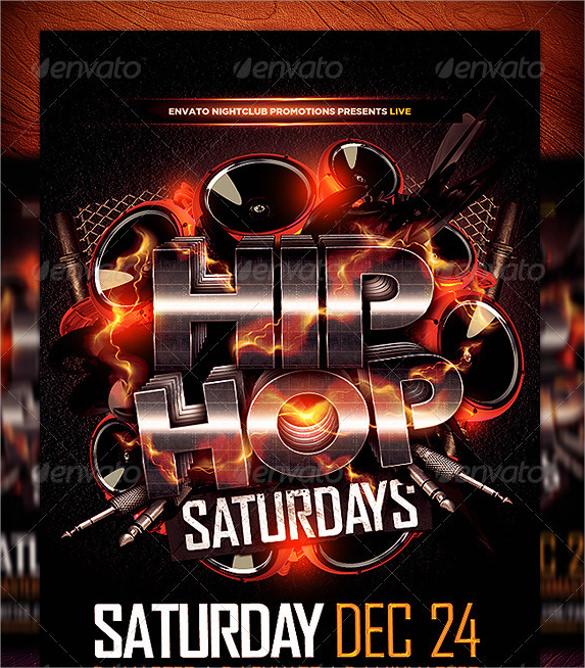 Hip Hop Flyer Template   Download In Vector Eps Psd
