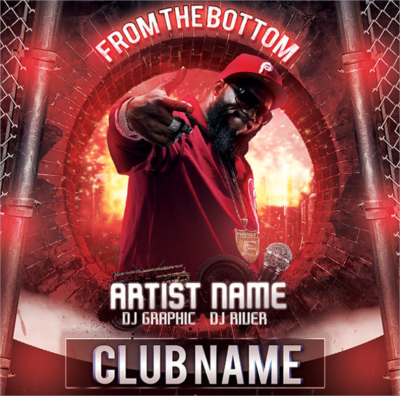 Hip Hop Flyer Template Freestyle Rap Battle Hip Hop Flyer Templates