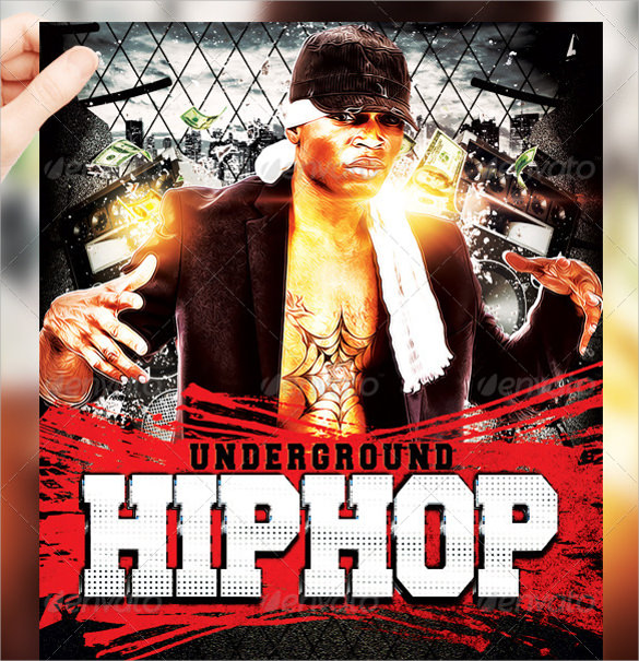 awesome hip hop flyer template download
