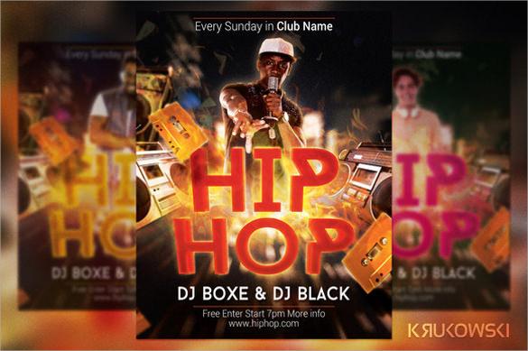 gorgeous hip hop flyer template download1