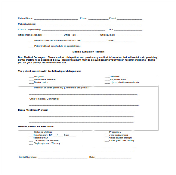Sample Medical Consultation Form - 11+ Download Free Documents in ...