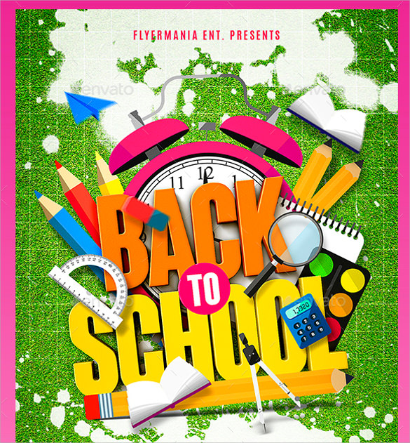 Back to School Flyer Templates PSD Format Download