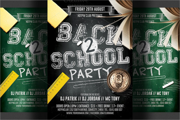 Back To School Flyer Template 20 Download In Vector Eps Psd