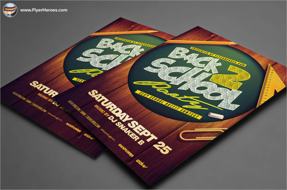 attractive back to school flyer templates