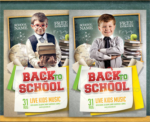 fabulous back to school flyer templates