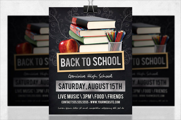 Back To School Flyer Template - 20+ Download In Vector Eps, Psd