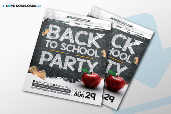 fantastic back to school flyer templates download
