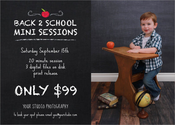 dazzling back to school flyer templates download