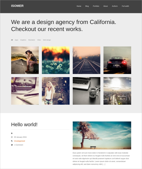 Photography WordPress Themes   Templates In 2016 Sample Templates 11l9mBWl