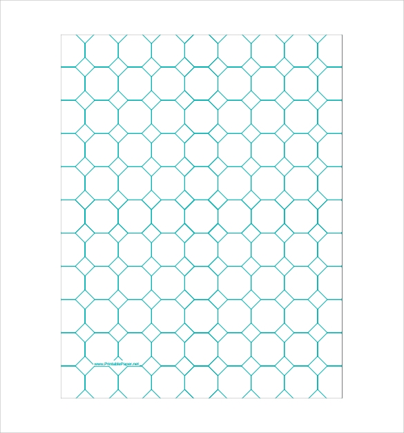 octagon graph paper of 1 inch spacing pdf free download