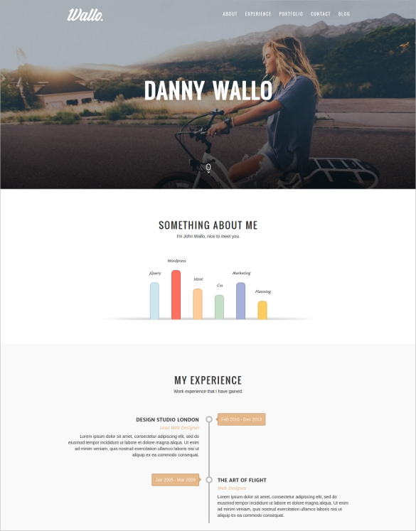 51  One Page WordPress Themes   Templates In 2016 Sample Templates rOfzqWI4
