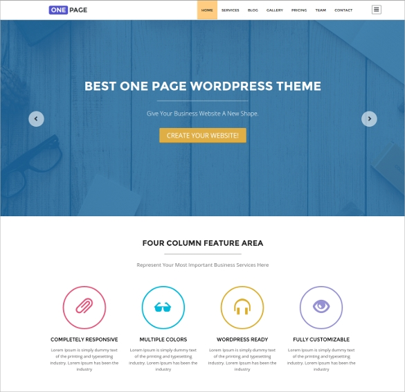51  One Page WordPress Themes   Templates In 2016 Sample Templates AXpuWbdf