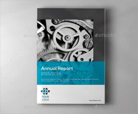 marvelous annual report brochure template