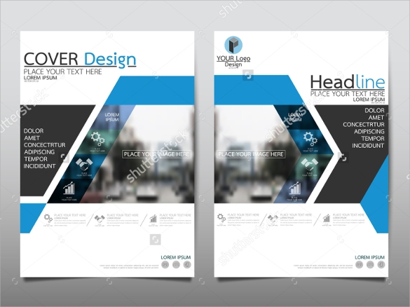 Sample Annual Report Brochure   Documents In Vector Eps  Psd