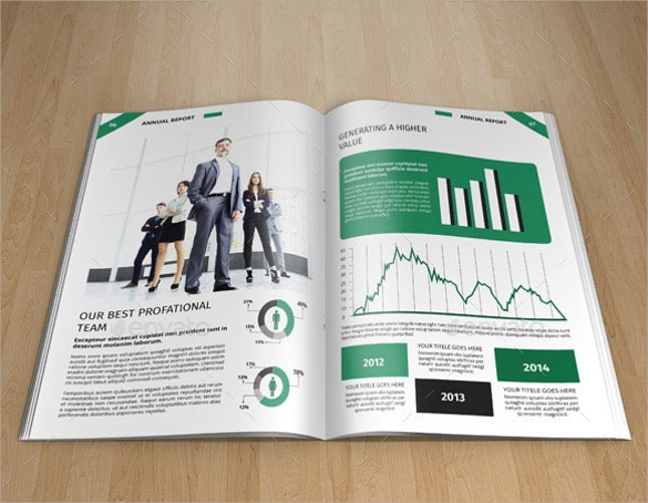 annual report brochure indesign indd format download