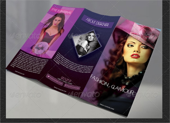 fashion design brochure vector eps download