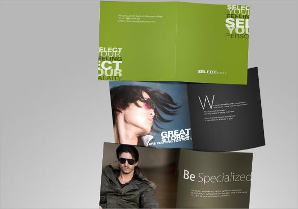 amazing fashion design brochure template