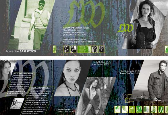 fabulous fashion design brochure template