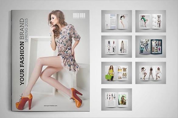 wondrous fashion design brochure template