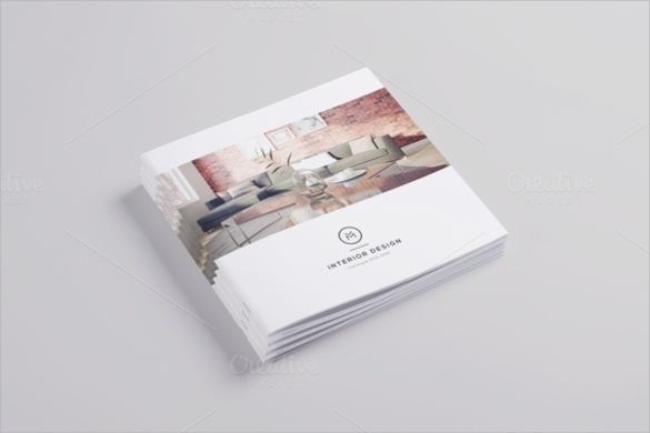 interior design brochure template psd download