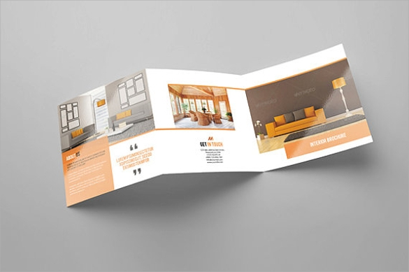 spectacular interior design brochure template download