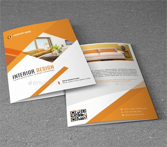 gorgeous interior design brochure template