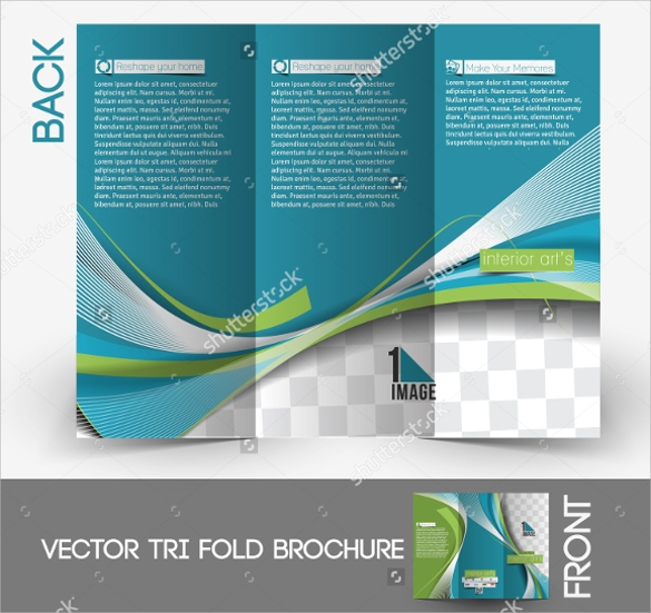 attractive interior design brochure template
