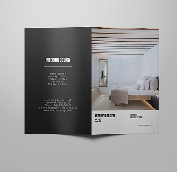 beautiful interior design brochure template download