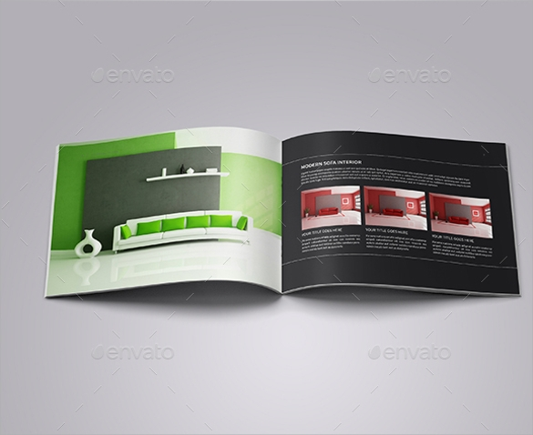 good interior design brochure template