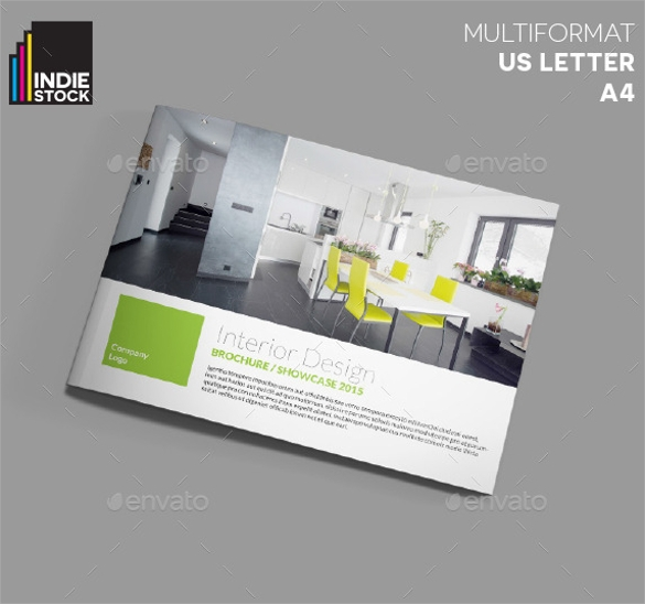 creative interior design brochure template download