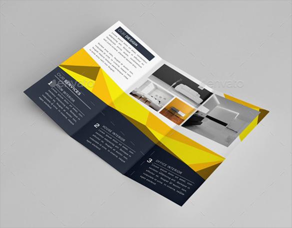 simple interior design brochure template download