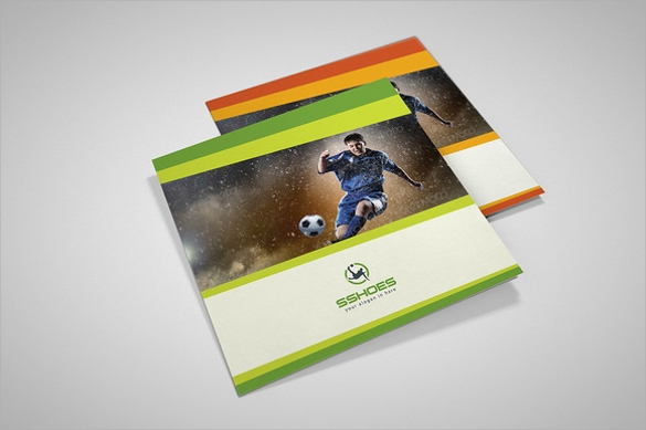 sports brochure vector eps download