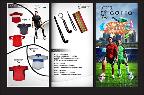 Sports Brochures  Vector Eps Psd