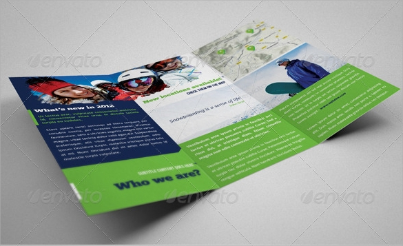 extreme sports event trifold brochures