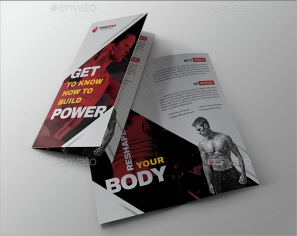 sport activity bifold brochure