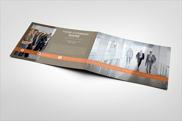 landscape bi fold brochure mock up