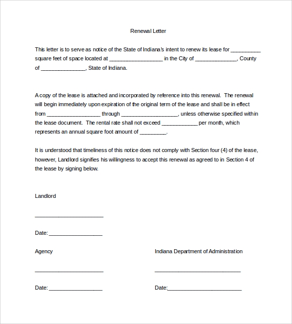 Sample Lease Renewal Letter - 9+ Download Free Documents In Pdf, Word