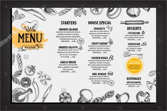attractive restaurant brochure download
