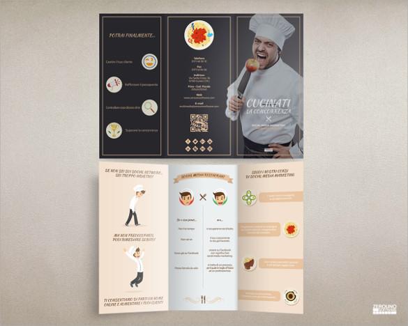 brochure social media marketing foodrestaurant