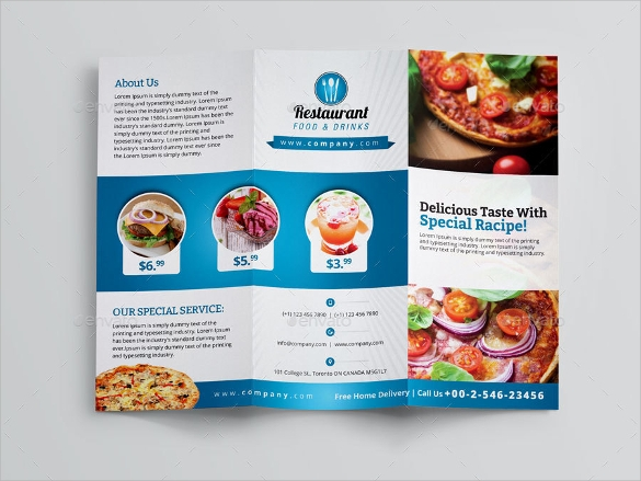 Exceptional Restaurant Brochure Template Free Download