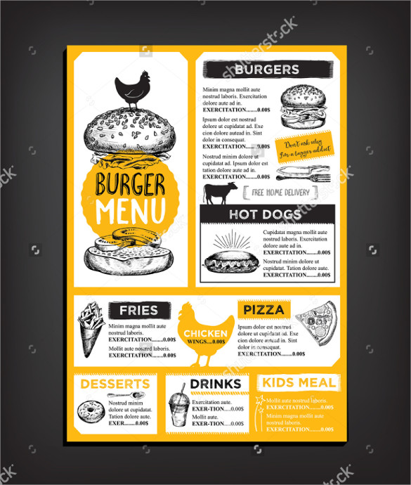 Restaurant Brochures  Vector Eps Psd