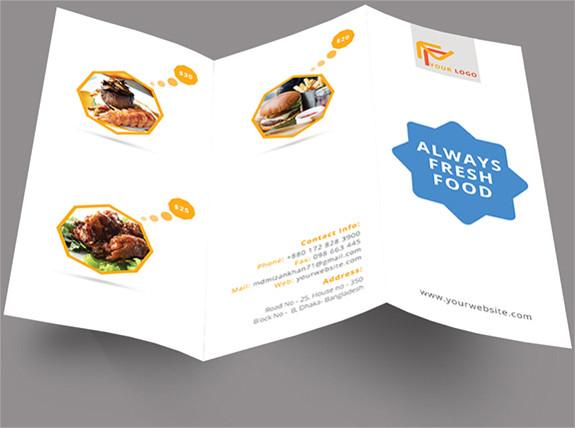 simple restaurant brochure download