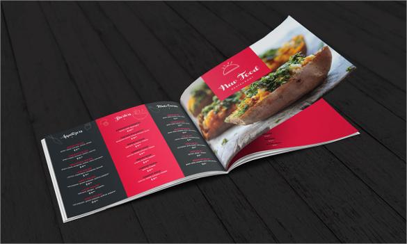 modern food restaurant menu brochure