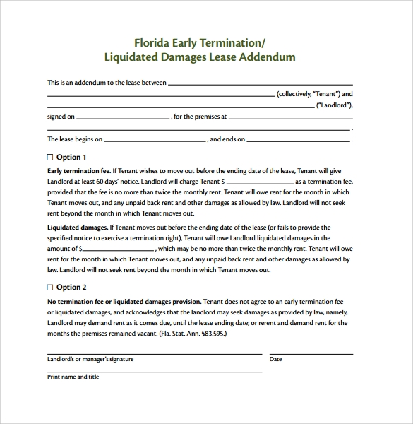 Sample Lease Termination Form - 7+ Download Free Documents In Pdf