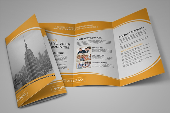 Tri Fold Brochure Template Download In Vector EPS PSD - Tri fold brochure template download