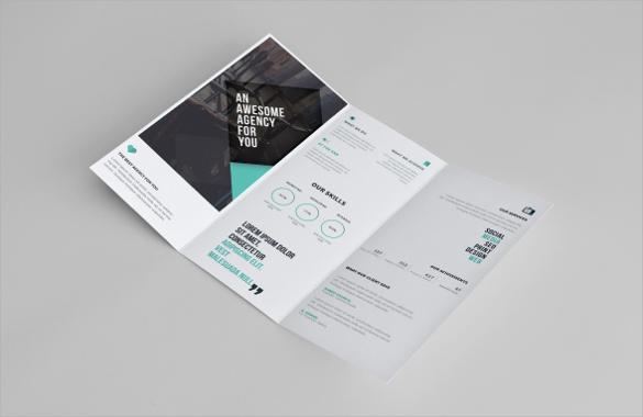 amazing tri fold brochure template download