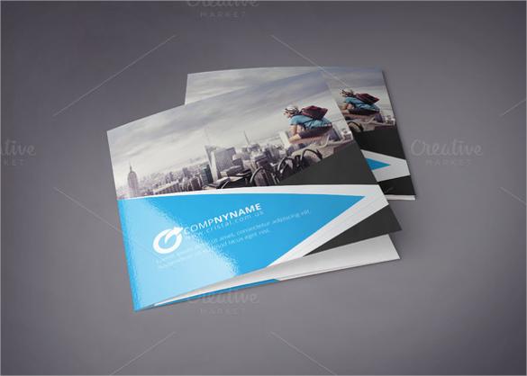 square tri fold brochure template