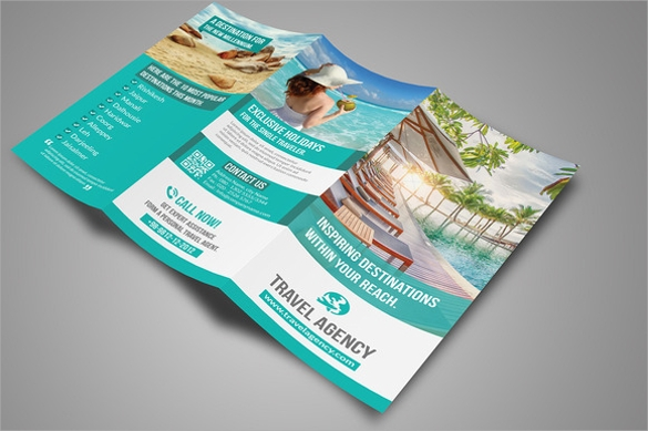 gorgeous tri fold brochure template download